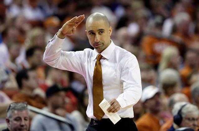 Texas head coach Shaka Smart is 71-66 in four seasons at Austin. (AP)