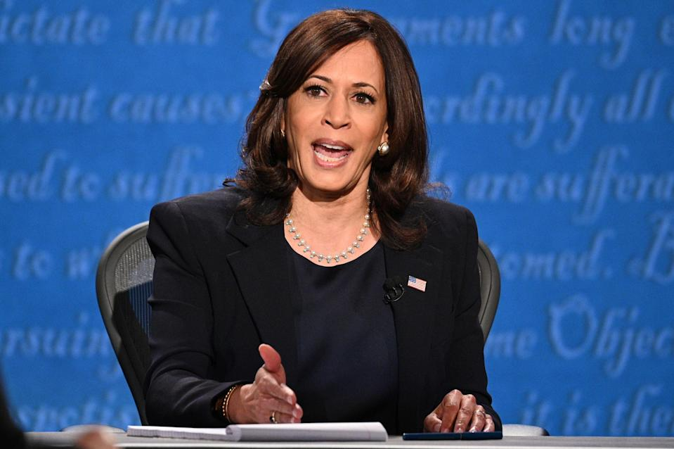 US Democratic vice presidential nominee and senator, Kamala Harris (AFP via Getty Images)