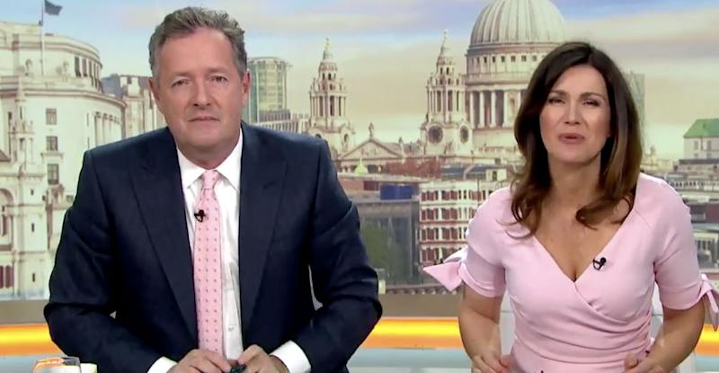Piers Morgan and Susanna Reid began working with each other in 2015 (Photo: ITV)