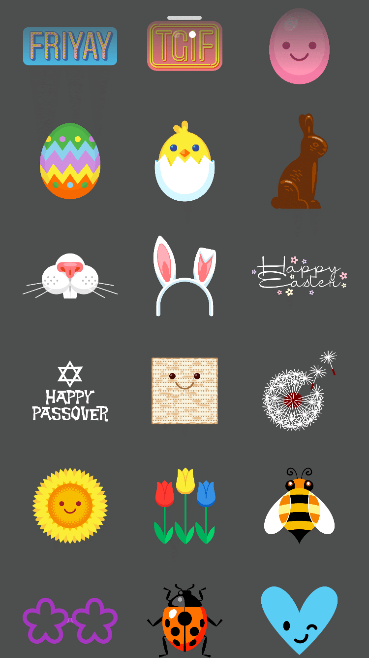 Instagram Easter stickers