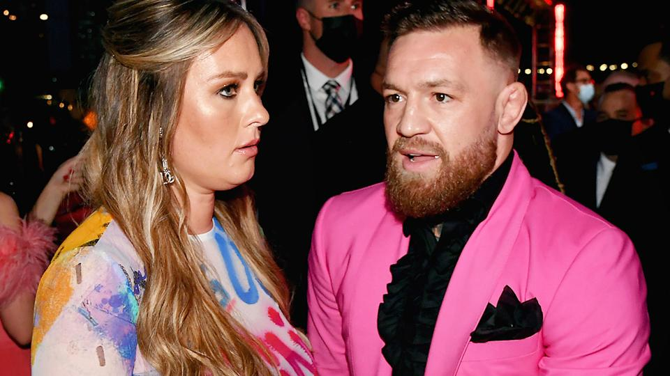 Conor McGregor was involved in a brief altercation with rapper Machine Gun Kelly outside the MTV Awards in New York earlier this week. (Photo by Jeff Kravitz/MTV VMAs 2021/Getty Images for MTV/ViacomCBS)