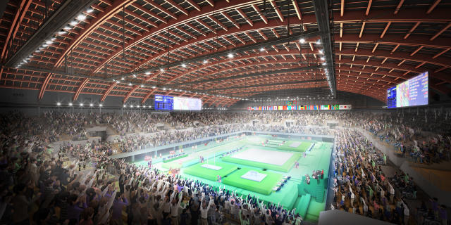<p>Design rendering of the Olympic Gymnastic Centre (Photo courtesy of Tokyo 2020) </p>