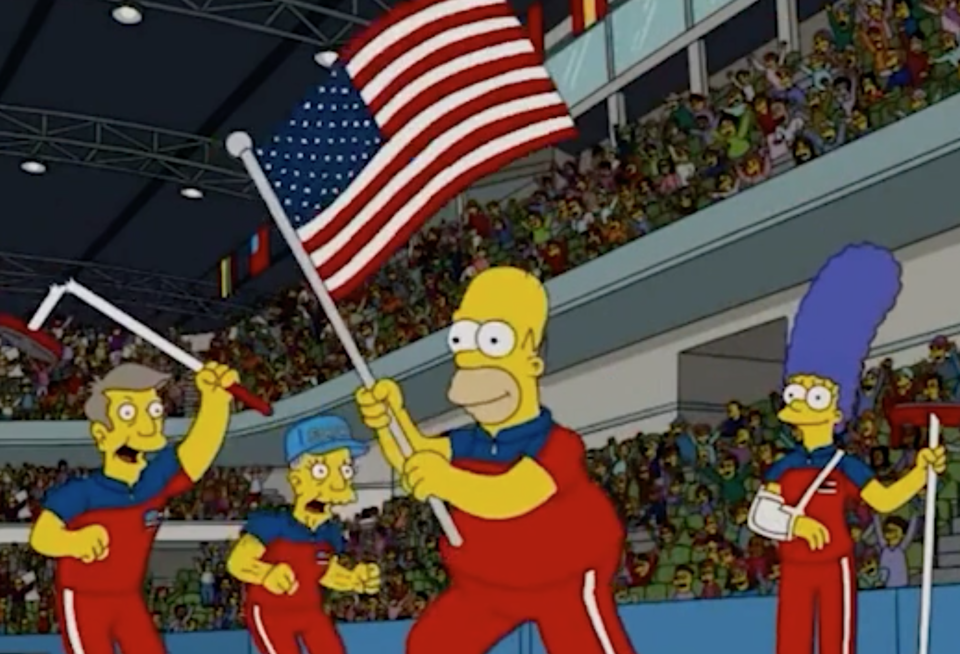 The Simpsons predict a Winter Olympic gold (Fox)