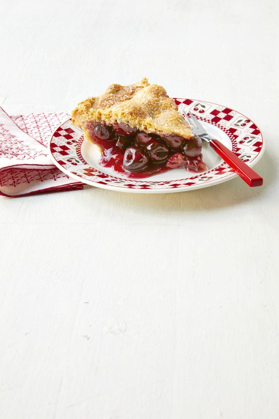 """<p>It isn't a 4th of July celebration without a gorgeous cherry pie, topped with homemade whipped cream.</p><p><strong><a href=""""https://thepioneerwoman.com/food-cooking/recipes/a32098700/cherry-pie-recipe/"""" rel=""""nofollow noopener"""" target=""""_blank"""" data-ylk=""""slk:Get the recipe."""" class=""""link rapid-noclick-resp"""">Get the recipe.</a></strong></p><p><a class=""""link rapid-noclick-resp"""" href=""""https://go.redirectingat.com?id=74968X1596630&url=https%3A%2F%2Fwww.walmart.com%2Fip%2FThe-Pioneer-Woman-Vintage-Floral-9-Inch-Pie-Plate%2F130212818&sref=https%3A%2F%2Fwww.thepioneerwoman.com%2Ffood-cooking%2Fmeals-menus%2Fg32109085%2Ffourth-of-july-desserts%2F"""" rel=""""nofollow noopener"""" target=""""_blank"""" data-ylk=""""slk:SHOP PIE PLATES"""">SHOP PIE PLATES</a></p>"""