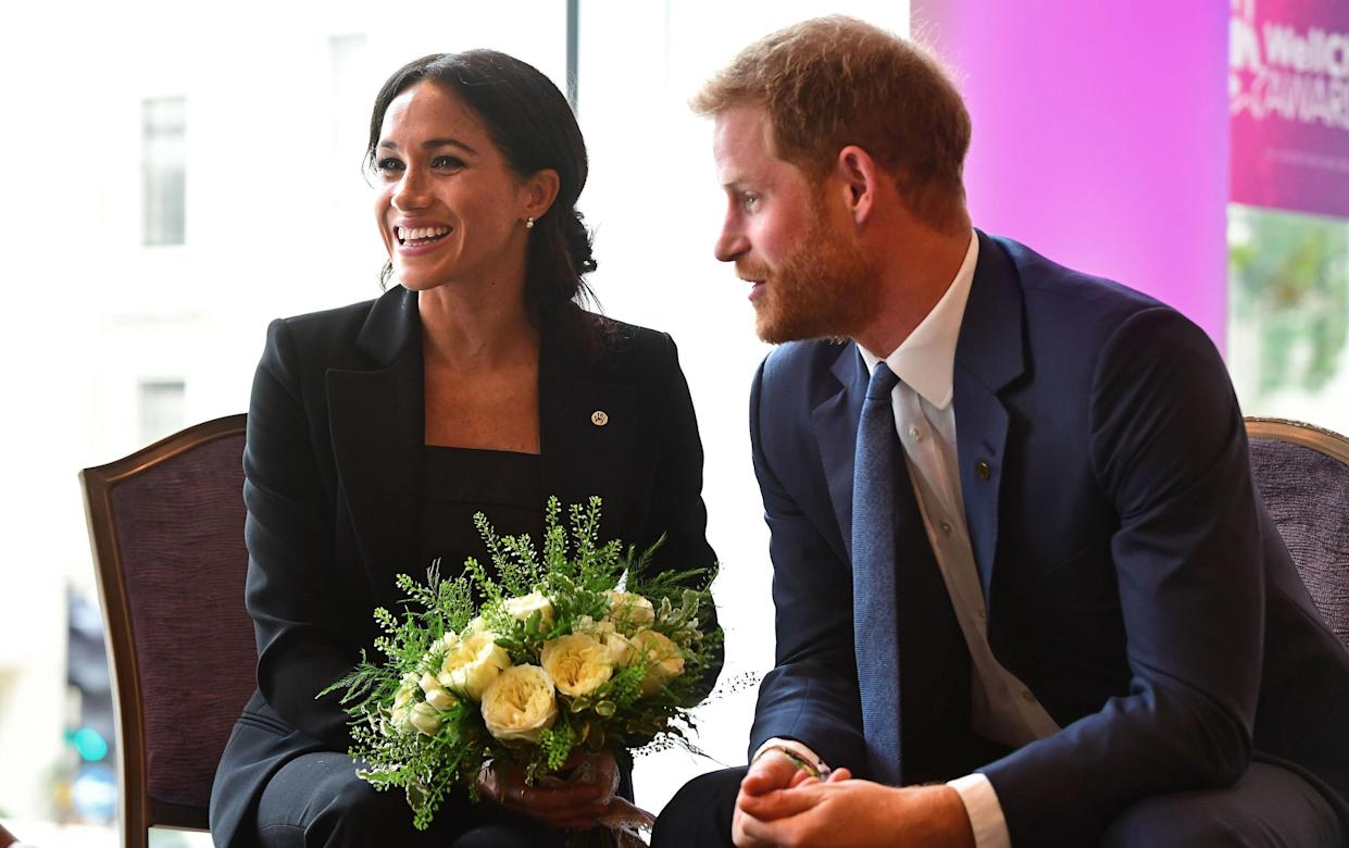 The Duke and Duchess of Sussex donned co-ordinating suits for the prestigious event [Photo: PA]
