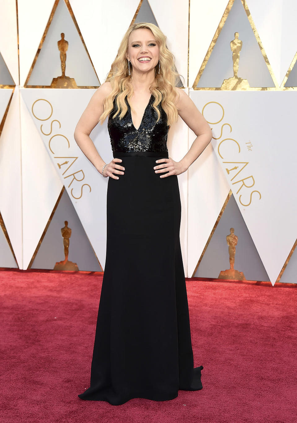 <p>Kate McKinnon arrives at the Oscars on Sunday, Feb. 26, 2017, at the Dolby Theatre in Los Angeles. (Photo by Jordan Strauss/Invision/AP) </p>