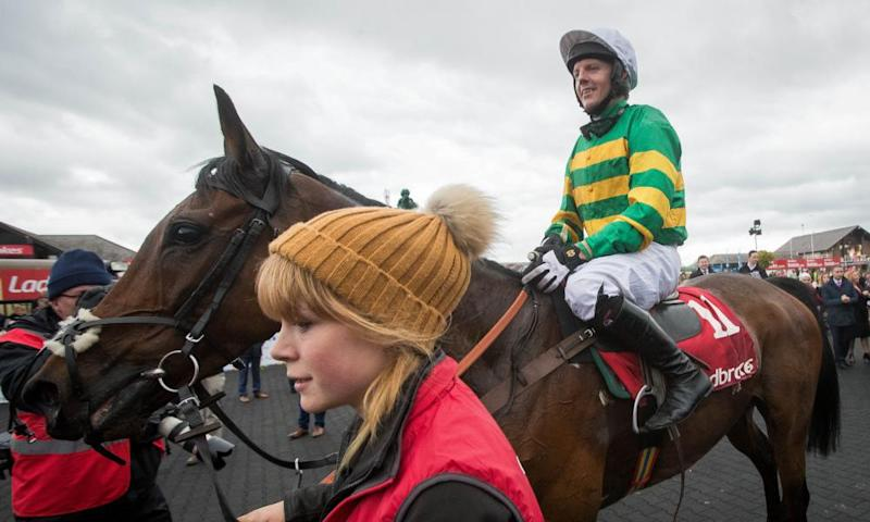 Noel Fehily onboard Unowhatimeanharry after winning the Champion Stayers Hurdle at Punchestown.