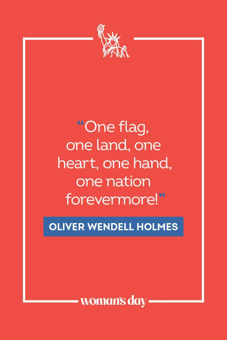 """<p>""""One flag, one land, one heart, one hand, one nation forevermore!"""" </p>"""