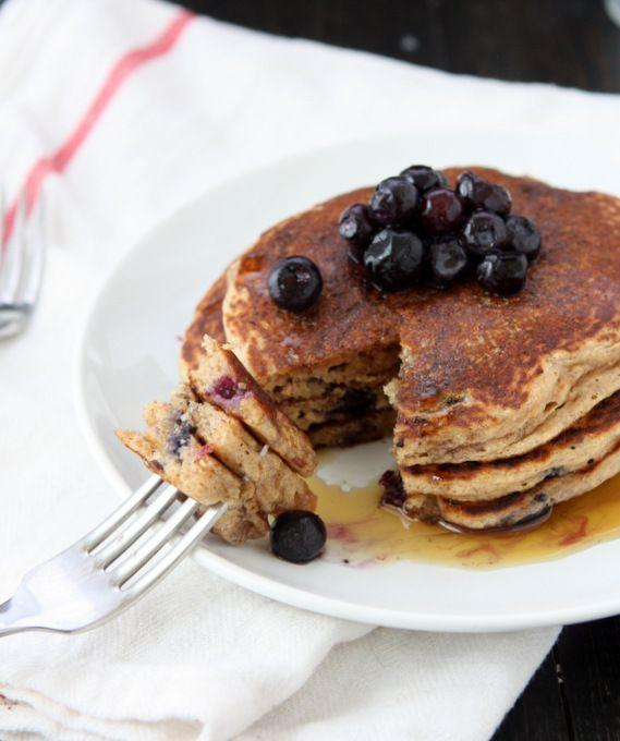 """<p>Blueberries are another popular breakfast fruit. And for good reason: They're both delicious and a great source of antioxidants. </p><p><strong>Get the recipe from <a href=""""https://thekitchenpaper.com/whole-wheat-blueberry-pancakes/"""" rel=""""nofollow noopener"""" target=""""_blank"""" data-ylk=""""slk:The Kitchen Paper"""" class=""""link rapid-noclick-resp"""">The Kitchen Paper</a>. </strong></p><p><strong><a class=""""link rapid-noclick-resp"""" href=""""https://go.redirectingat.com?id=74968X1596630&url=https%3A%2F%2Fwww.walmart.com%2Fbrowse%2Fhome%2Fnapkins%2F4044_623679_8055732_8058163_1513622&sref=https%3A%2F%2Fwww.thepioneerwoman.com%2Ffood-cooking%2Fmeals-menus%2Fg36146701%2Fbest-pancake-toppings%2F"""" rel=""""nofollow noopener"""" target=""""_blank"""" data-ylk=""""slk:SHOP TABLE LINENS."""">SHOP TABLE LINENS. </a><br></strong></p>"""