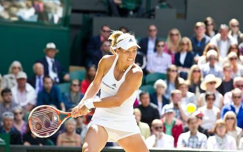 <span>The Wimbledon match between Angelique Kerber and Simona Halep was an epic</span> <span>Credit: HEATHCLIFF O'MALLEY </span>