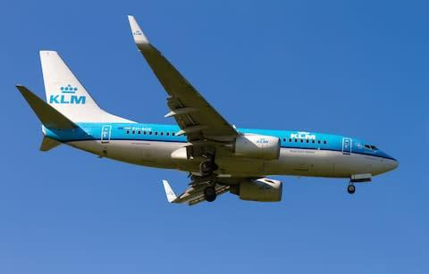<span>KLM offers passengers information on flight emissions</span> <span>Credit: Getty </span>
