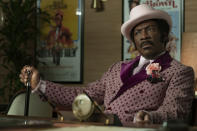 """This image released by Netflix shows Eddie Murphy in a scene from """"Dolemite Is My Name."""" (François Duhamel/Netflix via AP)"""