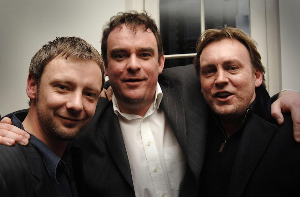 Life On Mars Actor John Simm (left), with writer Matthew Graham and Philip Glenister (right) at the special screening of the final episode of 'Life On Mars' at BAFTA in Piccadilly, west London.