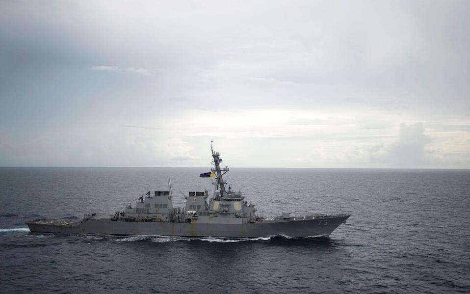 China has long sought to increase its influence in the South China Sea, but its moves have often been offset by American and Australian intervention -  PETTY OFFICER 2NDCLASS DIANA QUI/AFP