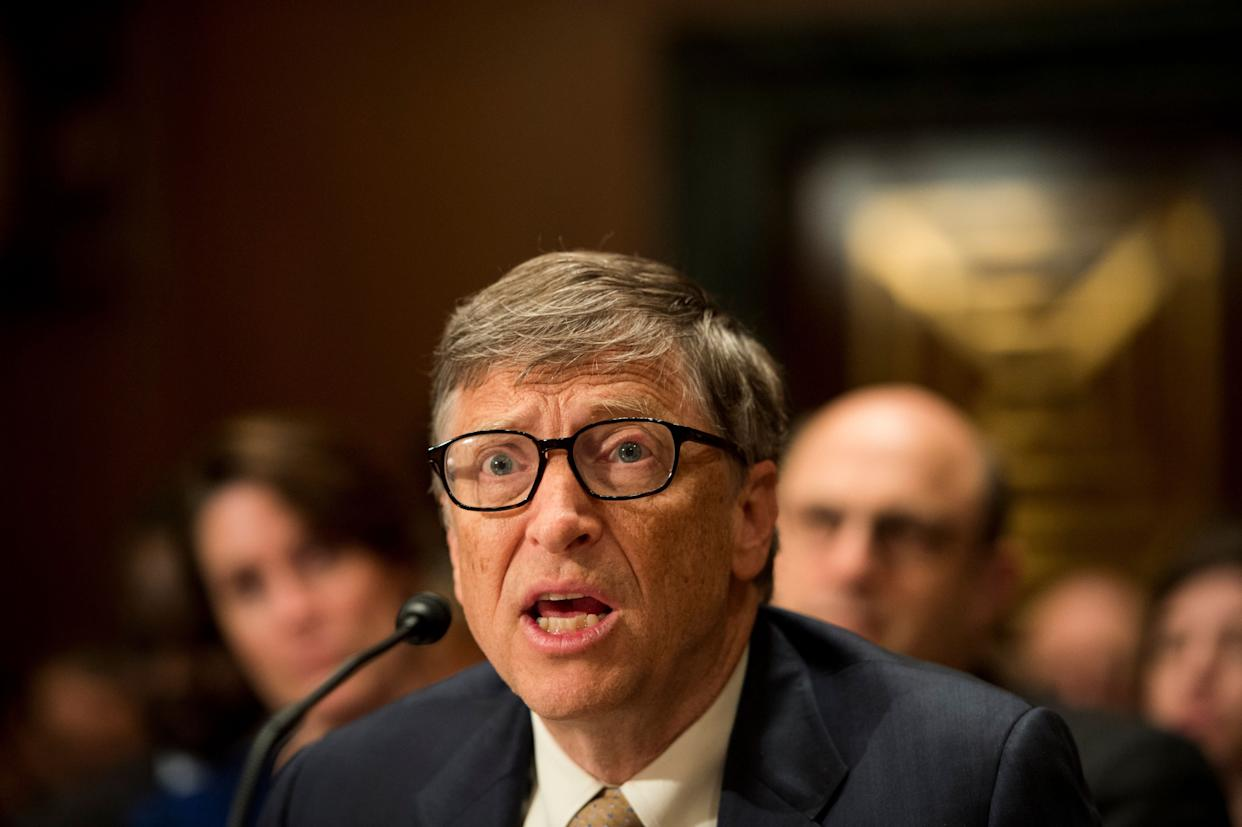 "Bill Gates testifies during the Senate Appropriations Subcommittee on State, Foreign Operations and Related Programs hearing on ""Diplomacy, Development, and National Security"" on March 26, 2015."