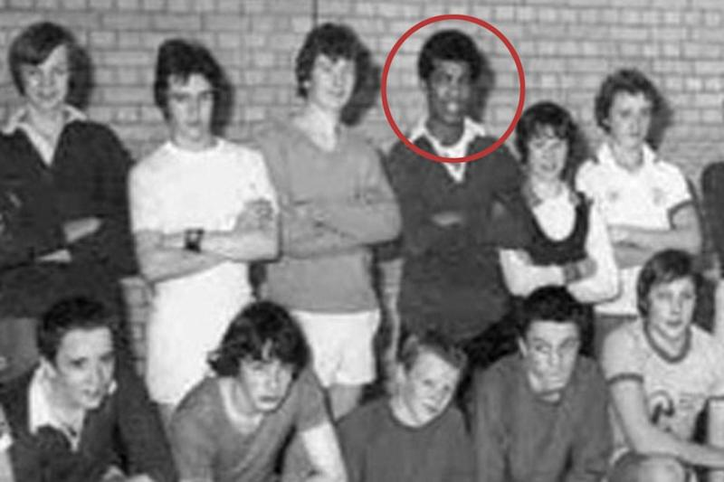 Attacker: Khalid Masood, in the back row, in his days as a schoolboy when he used the name Adrian Ajao