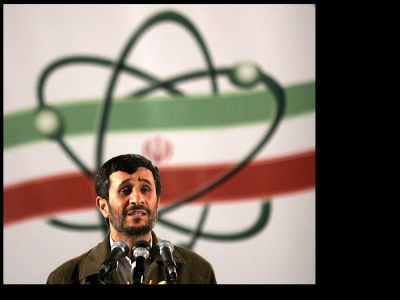FILE- In this April, 9, 2007, file photo Iranian President Mahmoud Ahmadinejad, speaks at a ceremony in Iran's nuclear enrichment facility in Natanz, 300 kms (186 miles) south of capital Tehran, Iran. Critical nuclear talks between Iran and world powers could begin this week in an atmosphere of impasse.(AP Photo/Hasan Sarbakhshian, File)