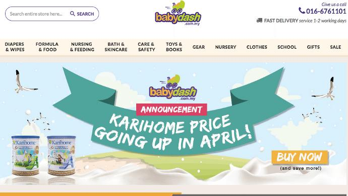 Babydash raises US$133.4K via equity fundraising to boost online baby products in Malaysia