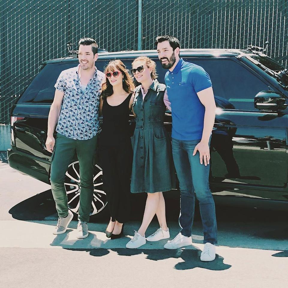 Deschanel met Scott while filming an episode of<em>Carpool Karaoke</em>in August 2019. The two were joined by their respective famous siblings, Emily and Drew.