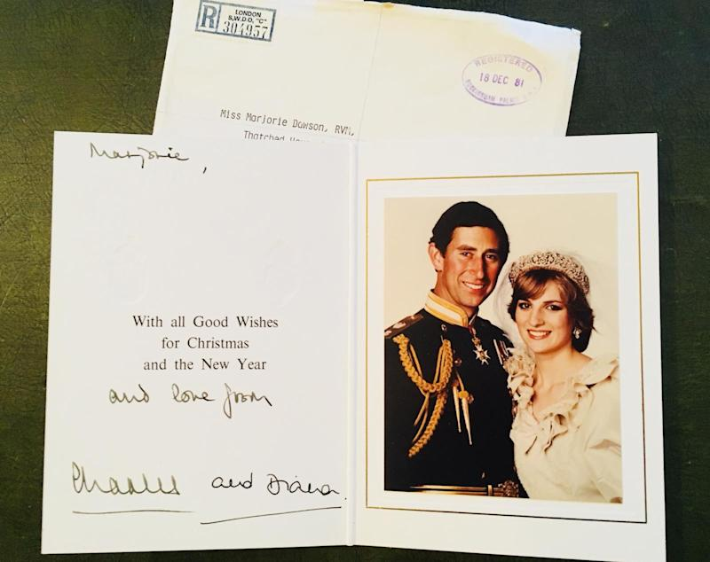 Christmas card from Charles and Diana