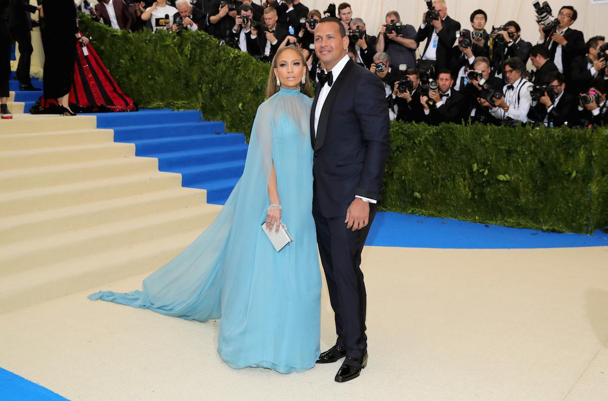 <p>The couple both wore looks from Valentino to the 2017 Met Gala. (Photo by Neilson Barnard/Getty Images) </p>