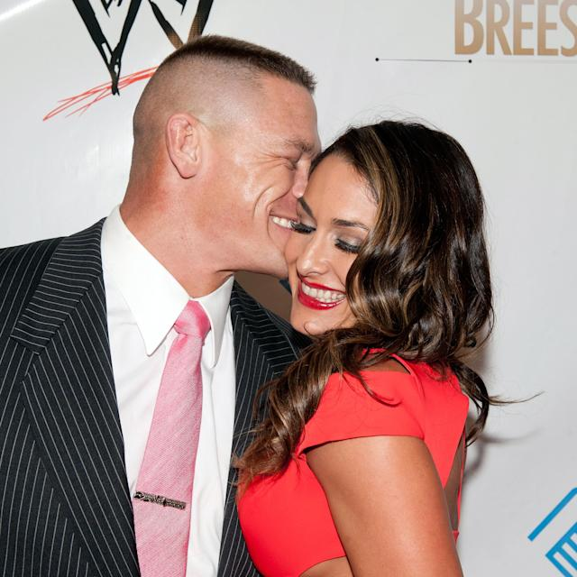 John Cena and Nikki Bella in 2014. (Photo: Getty Images)