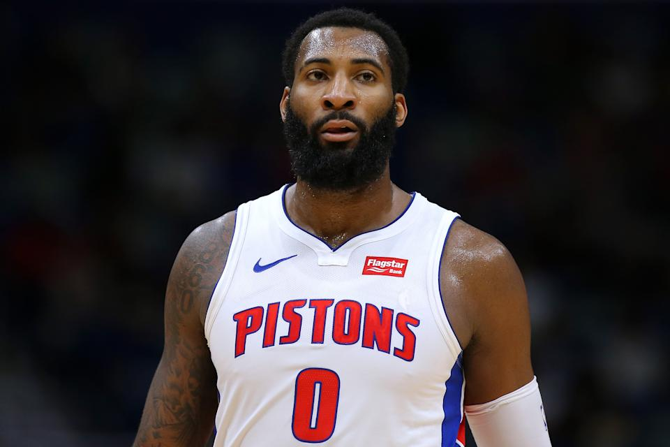 """The Pistons reportedly have """"escalating discussions"""" with several teams about a possible trade involving star center Andre Drummond. (Jonathan Bachman/Getty Images)"""