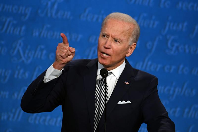 Joe Biden during the first presidential debate