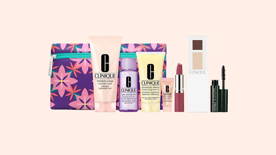 Nab this free eight-piece set from Clinique.