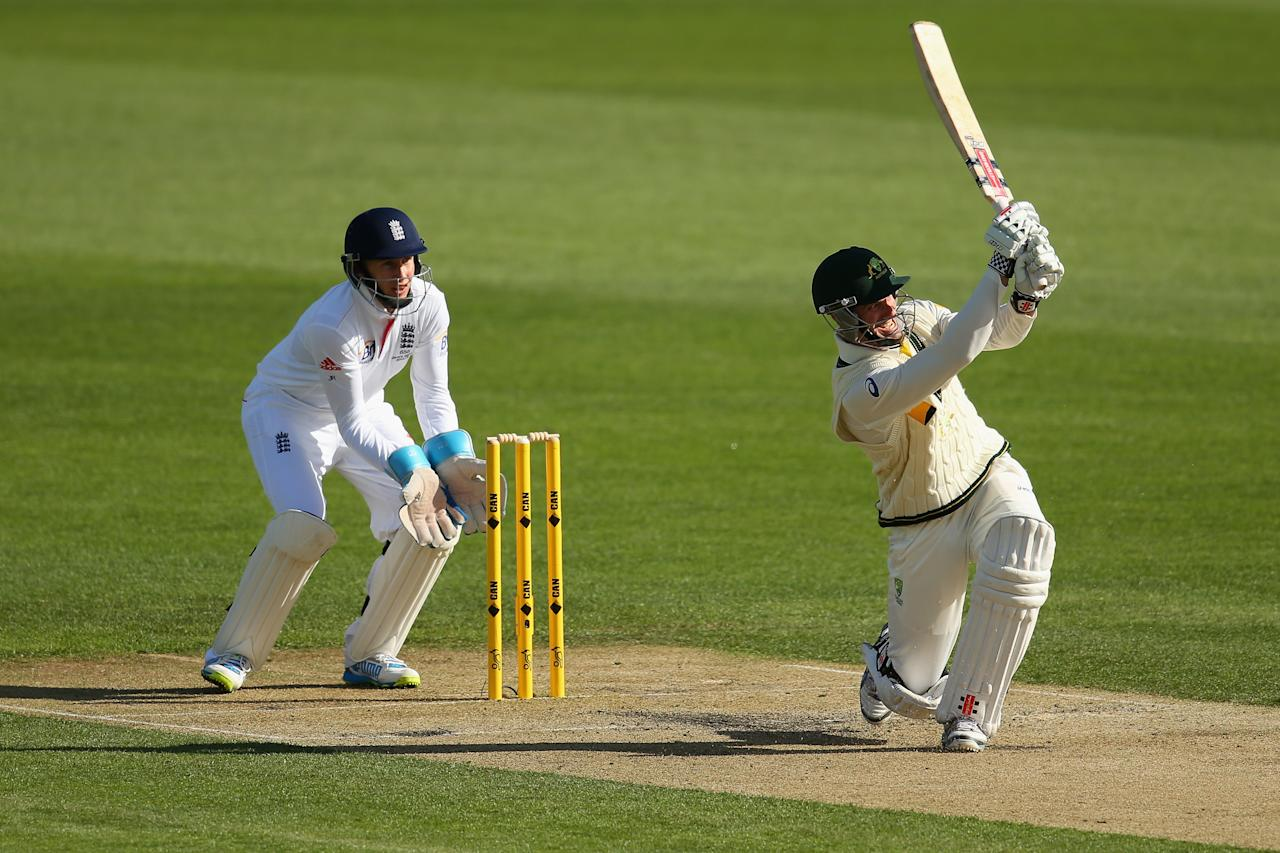 HOBART, AUSTRALIA - NOVEMBER 09:  Michael Klinger of Australia A bats during day four of the tour match between Australia A and England at Blundstone Arena on November 9, 2013 in Hobart, Australia.  (Photo by Mark Kolbe/Getty Images)