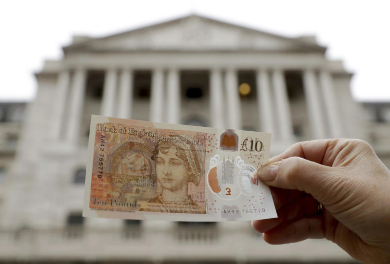 The new plastic tenner featuing renowned novelist Jane Austen is changing hands for sums way outstripping its face value (AP Photo/Matt Dunham)