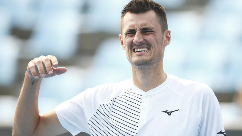 Bernard Tomic, pictured here during qualifying for the Australian Open.
