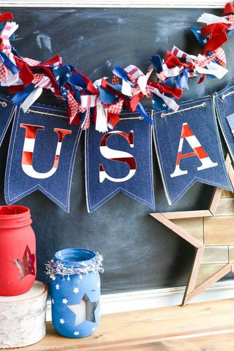 """<p>Decorate your entire home (inside and out) with <span class=""""redactor-unlink"""">DIY red, white, and blue decorations</span>. Get the whole family to pitch in and make their own statement pieces.</p><p><strong>RELATED: 36 4th of July Crafts to Get in the Holiday Spirit</strong></p><p><a class=""""link rapid-noclick-resp"""" href=""""https://www.amazon.com/Ball-Mason-Jar-16-Clear-Heritage/dp/B0764L6ZR9/ref=sxin_9?asc_contentid=amzn1.osa.08f894e9-6ed8-49e8-9877-b01d670c0425.ATVPDKIKX0DER.en_US&asc_contenttype=article&ascsubtag=%5Bartid%7C10050.g.4463%5Bsrc%7Cyahoo-us&creativeASIN=B0764L6ZR9&cv_ct_cx=ball+jar&cv_ct_id=amzn1.osa.08f894e9-6ed8-49e8-9877-b01d670c0425.ATVPDKIKX0DER.en_US&cv_ct_pg=search&cv_ct_we=asin&cv_ct_wn=osp-single-source-earns-comm&dchild=1&keywords=ball+jar&linkCode=oas&pd_rd_i=B0764L6ZR9&pd_rd_r=4b90ee07-947f-43f9-ae73-6f38ee95bbdf&pd_rd_w=GC8HD&pd_rd_wg=7ztCH&pf_rd_p=c5aa77b7-f0ac-4b95-b207-5ef230c60c9b&pf_rd_r=T67NY76TPVMHJ7DKZCG5&qid=1621521952&sr=1-1-64f3a41a-73ca-403a-923c-8152c45485fe&tag=syn-yahoo-20"""" rel=""""nofollow noopener"""" target=""""_blank"""" data-ylk=""""slk:SHOP BALL JARS"""">SHOP BALL JARS</a></p>"""