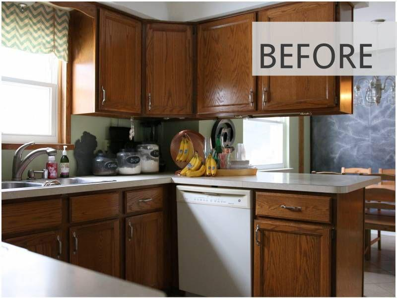 <p>We'll never get over the miraculous power of a paint job. Take these dark wood kitchen cabinets for example, which got a much-needed makeover inspired by <em>Fixer Upper</em>.</p>
