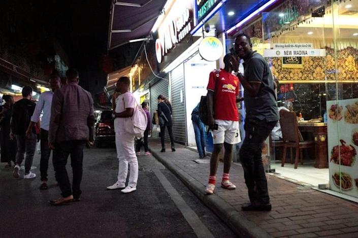 Guangzhou in southern China is home to a sizeable African community (AFP Photo/FRED DUFOUR)