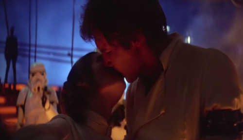 Han and Leia say farewell in'The Empire Strikes Back' (Lucasfilm)