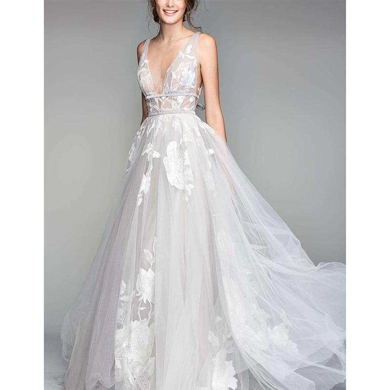"<h2>Shop Plunging V-Neck</h2>                                                                                                                                                                             <p><p>How enchanting is this V-neck ballgown?</p> <div><span><a rel=""nofollow"" href=""https://click.linksynergy.com/deeplink?id=30KlfRmrMDo&mid=1237&murl=https%3A%2F%2Fshop.nordstrom.com%2Fs%2Fwillowby-galatea-embroidered-tulle-ballgown%2F4811712%3Forigin%3Dleftnav%26cm_sp%3DLeft%2520Navigation-_-Wedding%2520Dresses%26top%3D72%26flexi%3D60130969_60132454"">Galatea Embroidered Tulle Ballgown</a>, Willowby $1,595</span></div>                                                                                                                                                                           <p>     <strong>Related Articles</strong>     <ul>         <li><a rel=""nofollow"" href=""http://thezoereport.com/fashion/style-tips/box-of-style-ways-to-wear-cape-trend/?utm_source=yahoo&utm_medium=syndication"">The Key Styling Piece Your Wardrobe Needs</a></li><li><a rel=""nofollow"" href=""http://thezoereport.com/entertainment/culture/everything-wish-knew-got-lip-injections/?utm_source=yahoo&utm_medium=syndication"">Everything I Wish I Knew Before I Got Lip Injections</a></li><li><a rel=""nofollow"" href=""http://thezoereport.com/entertainment/culture/cynthia-nixon-running-for-new-york-governor/?utm_source=yahoo&utm_medium=syndication""><i>SATC</i>'s Cynthia Nixon Is Running For Governor Of New York</a></li>    </ul> </p>"