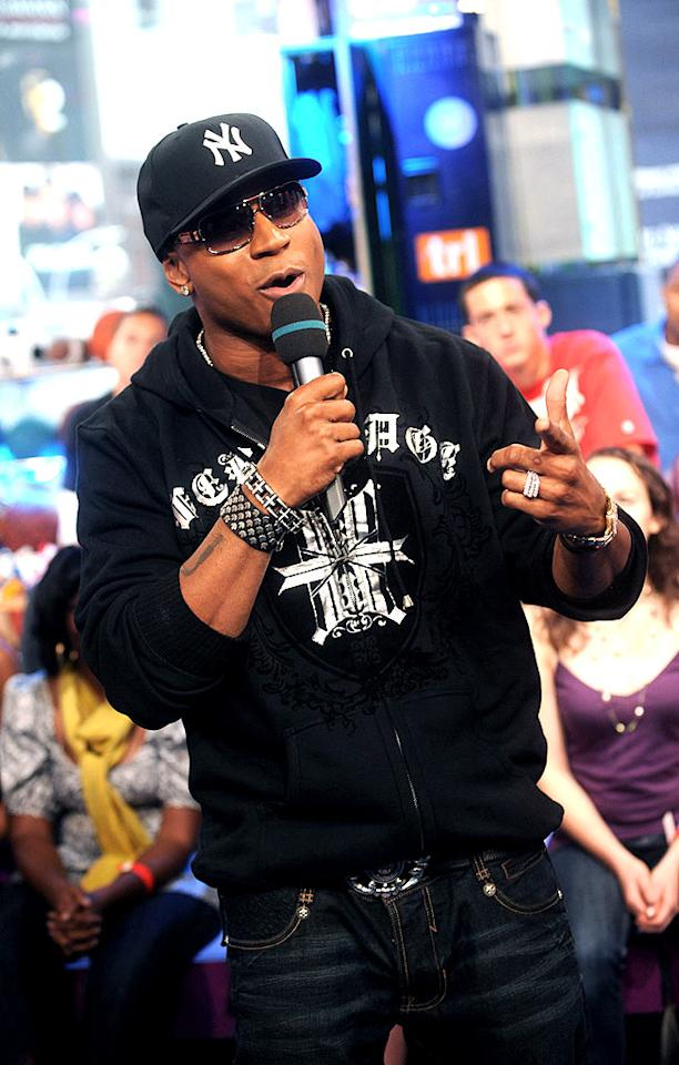 """LL Cool J pops by MTV's """"TRL"""" studios in NYC to promote his new album, """"Exit 13."""" Brad Barket/<a href=""""http://www.gettyimages.com/"""" target=""""new"""">GettyImages.com</a> - September 9, 2008"""