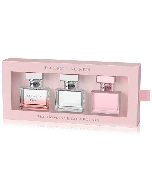 """<p><strong>Ralph Lauren</strong></p><p>macys.com</p><p><strong>$86.00</strong></p><p><a href=""""https://go.redirectingat.com?id=74968X1596630&url=https%3A%2F%2Fwww.macys.com%2Fshop%2Fproduct%2Fralph-lauren-3-pc.-romance-fragrance-discovery-set%3FID%3D11413841&sref=https%3A%2F%2Fwww.redbookmag.com%2Ffashion%2Fg34822878%2Fstocking-stuffers-for-her%2F"""" rel=""""nofollow noopener"""" target=""""_blank"""" data-ylk=""""slk:Shop Now"""" class=""""link rapid-noclick-resp"""">Shop Now</a></p><p>This 3 piece Ralph Lauren Romance fragrance set is ideal to fill not one but three stockings! These travel size perfumes are always crowd pleasers for everyone in the family, all featuring a luminous blend of florals including the star ingredient, rose.</p>"""