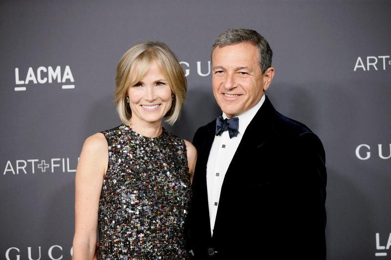 Walt Disney Company President and Chief Executive Officer Bob Iger and wife Willow Bay pose at the Los Angeles County Museum of Art (LACMA) Art+Film Gala in Los Angeles