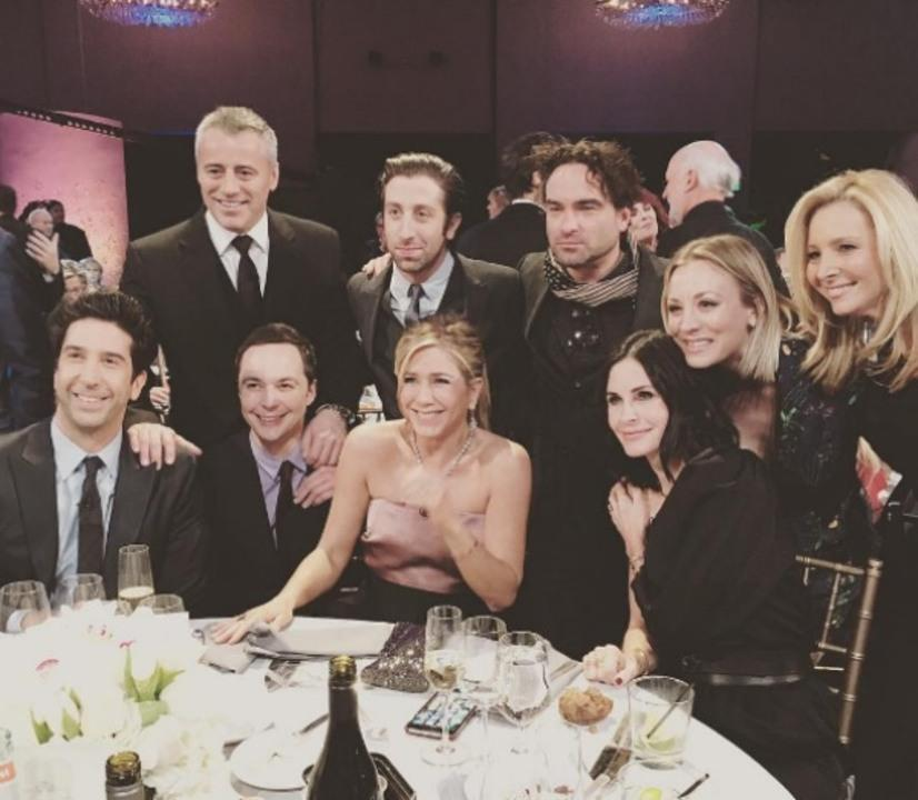 The whole gang (minus Matthew Perry) got together at an NBC special in 2016 to celebrate director James Burrows.