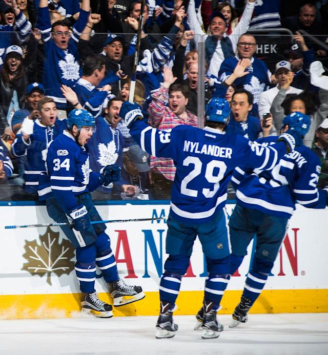 <p>Although the Leafs were eliminated in the first round by the Washington Capitals, Auston Matthews showed why there's reason to believe that better days are ahead. (Mark Blinch/NHLI via Getty Images) </p>