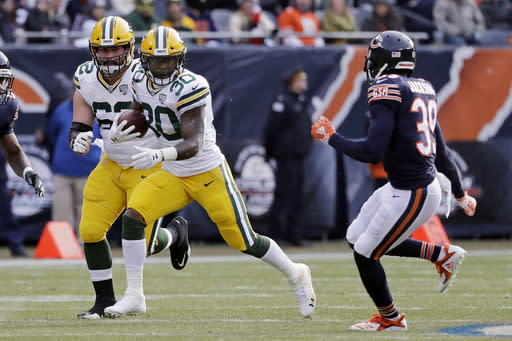 With Aaron Jones likely to miss time, Jamaal Williams is the back to have in Green Bay. (AP Photo/Nam Y. Huh)