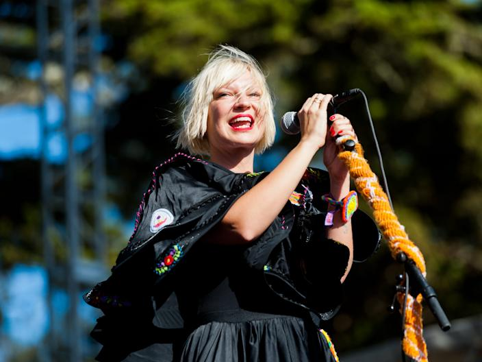 Sia performing at Outside Lands Music Festival in 2011.
