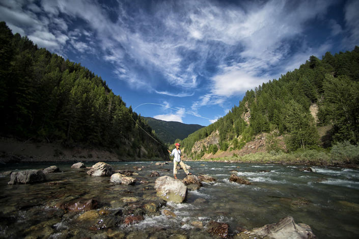 <p>Fly-fishing on the Middle Fork of the Flathead River. (Photo: Lee Cohen) </p>