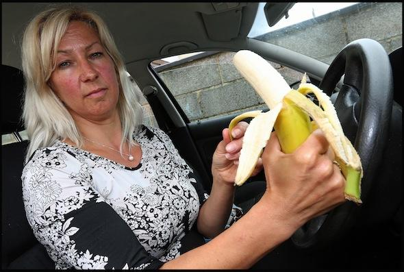 Driver with a banana