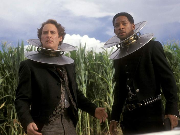 "(L-R) Kevin Kline and Will Smith in ""Wild Wild West."""