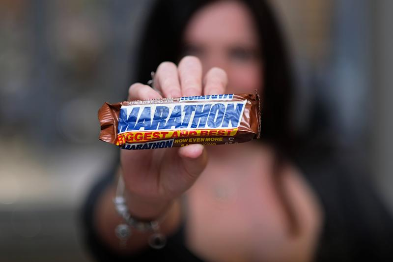 Smith's most prized possession is a Marathon bar dating back to 1982 which she bought on eBay two decades ago for £25. [Photo: SWNS]