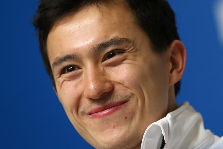 Canadian figure skater Patrick Chan attends a press conference in Sochi, on February 4, 2014