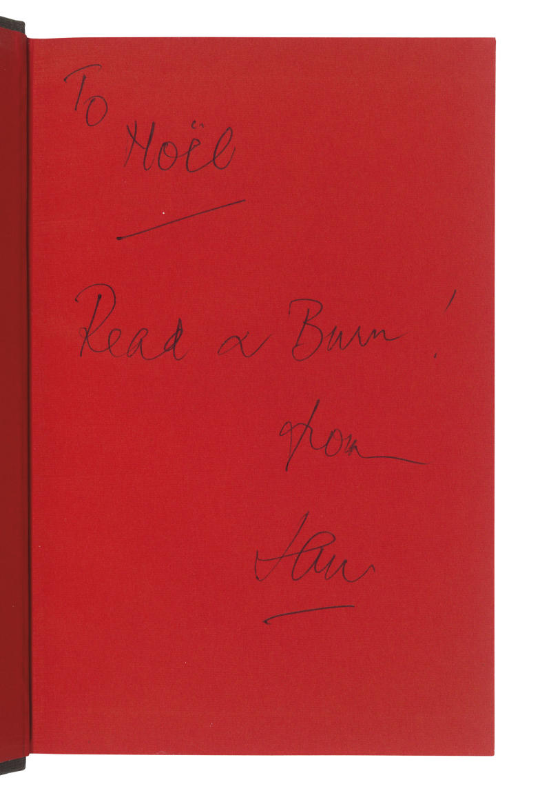 A note inscribed to Noel Coward in The Spy Who Loved Me